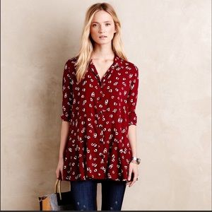 Anthropologie 11.1 TYLHO floral long sleeve top